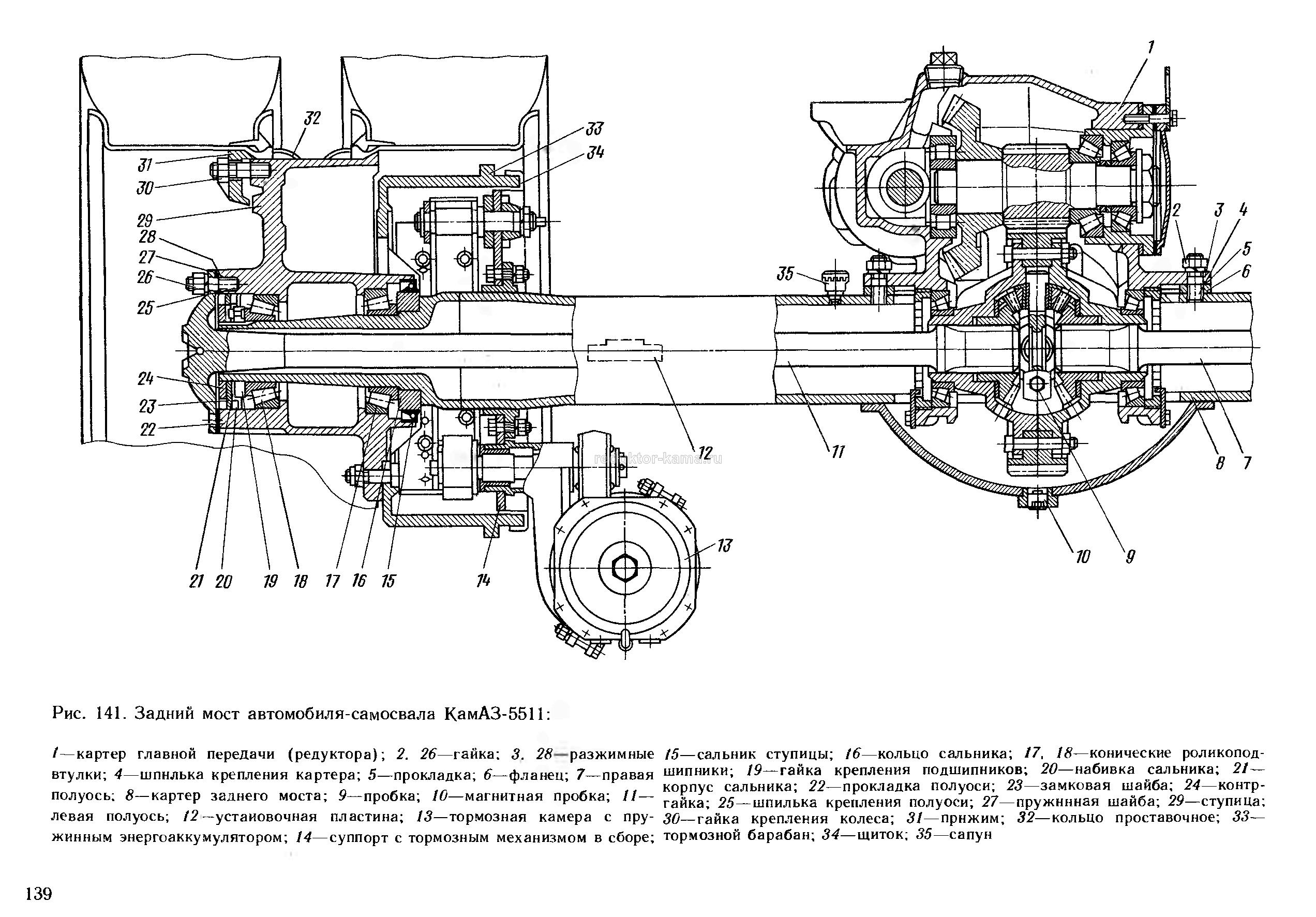 схема тормозной системы камаз 65115 цветная с описанием